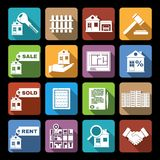 Real estate icons flat Stock Image