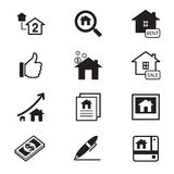 Real estate icons Illustration symbol Vector Royalty Free Stock Photos