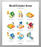Real estate icons Isometric pack vector illustration