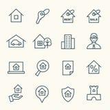 Real estate icons Royalty Free Stock Photos