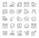 Real estate, icons, linear, monotone. Stock Photography