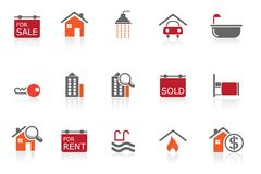 Real Estate icons |part 10 series 1 Royalty Free Stock Image
