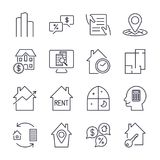 Real Estate Icons. Professional, pixel perfect icons optimized for both large and small resolutions. EPS 10 format. Editable strok Royalty Free Stock Photos