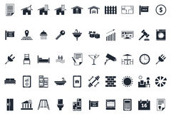 Real Estate Icons. 50 Professional Real Estate Icons professionally designed for real estate agents, agencies or websites royalty free illustration