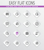 Real estate icons set. Real estate easy flat web icons for user interface design Royalty Free Stock Photo