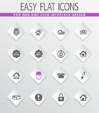 Real estate icons set. Real estate easy flat web icons for user interface design Stock Image