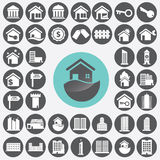 Real estate icons set. Royalty Free Stock Image