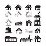 Real Estate Icons set Stock Photos
