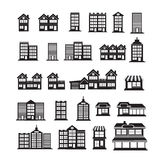Real Estate Icons set Royalty Free Stock Photography