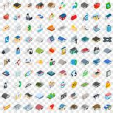 100 real estate icons set, isometric 3d style. 100 real estate icons set in isometric 3d style for any design vector illustration Stock Photos