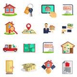Real estate icons set Royalty Free Stock Image