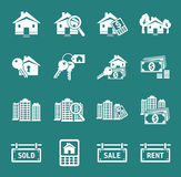Real Estate icons. Set of real estate icons and signs. Vector Royalty Free Stock Images