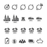 Real estate icons set. Royalty Free Stock Photos