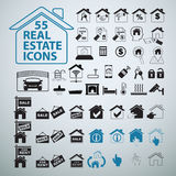 Real Estate icons set, vector business signs. Royalty Free Stock Images