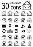 Real estate icons set Stock Images