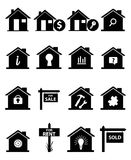 Real Estate Icons Set. Vector illustration of various real estate icons set on a white background Stock Image
