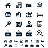 Real estate icons. Simple icons. Clear and sharp. Easy to resize. No transparency effect. EPS10 file