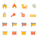 Real estate icons and symbols Stock Image