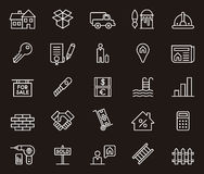 Real estate icons Stock Image