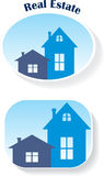 Real Estate (icons), vector illustration Royalty Free Stock Image