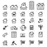 Real estate icons. Vector Royalty Free Stock Photography
