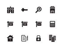 Real Estate icons on white background. Vector illustration royalty free illustration