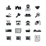 Real Estate icons on White Background. Vector illustration. EPS 10 Stock Images