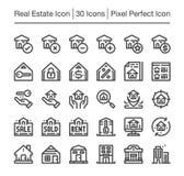 Real Estate ikona ilustracji