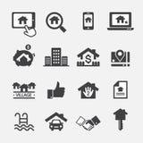 Real Estate ikona Fotografia Stock