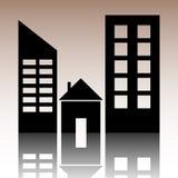 Real Estate ikona Zdjęcie Stock