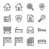 Real Estate-Ikone Lizenzfreies Stockfoto