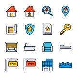 Real Estate-Ikone Stockfotos