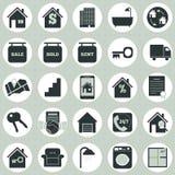 Real Estate-Ikonen Stock Abbildung