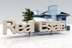 Real estate illustration Royalty Free Stock Photography