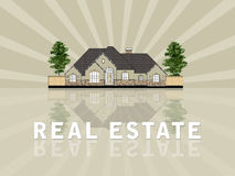 Real estate illustration Stock Images