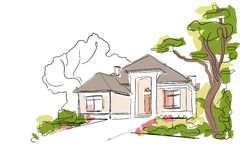 Real Estate Illustration Stock Photography