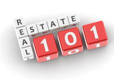 Real estate 101. Image with hi-res rendered artwork that could be used for any graphic design Stock Photo