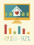 Real Estate Infographic Element Royalty Free Stock Image