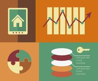 Real Estate Infographic Element Royalty Free Stock Photography
