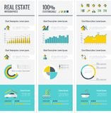 Real Estate Infographic Elements. Stock Image