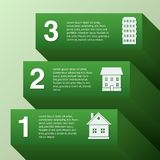 Real estate. Infographic set with buildings vector illustration Royalty Free Stock Image