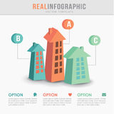 Real estate infographic template, flat design,  Royalty Free Stock Photo