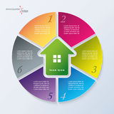 Real estate Infographic template Stock Photography