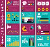 Real Estate Infographics. Royalty Free Stock Photography