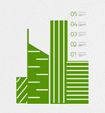 Real estate infographics template in retro style Stock Photography