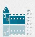 Real estate infographics template in retro style Royalty Free Stock Photo