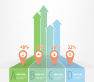 Real estate infographics. Trends of dwelling with icons, EPS10 Vector Stock Photography