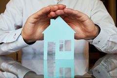 Real estate insurance Stock Image