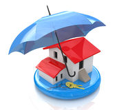 Real estate insurance. At registration information related to the protection of property Stock Photos