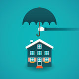 Real estate insurance vector concept in flat style.  Royalty Free Stock Images